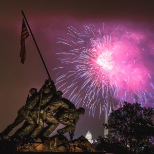 Fireworks at Iwo Jima Memorial